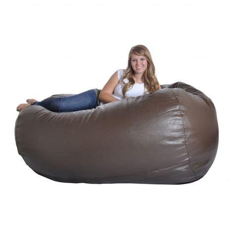 bean bag sofa chair brown faux leather bean bag chair home furniture design