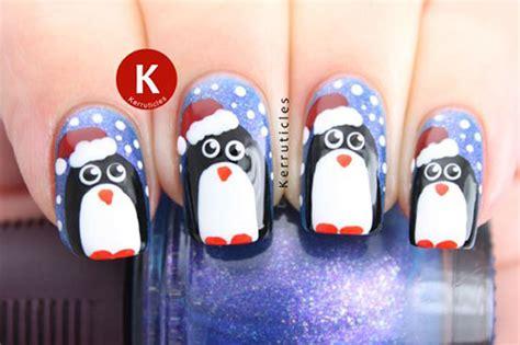 15 Christmas Penguin Nail Art Designs, Ideas & Stickers