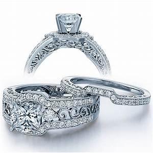 gia certified 2 carat princess cut diamond vintage wedding With vintage princess cut wedding rings