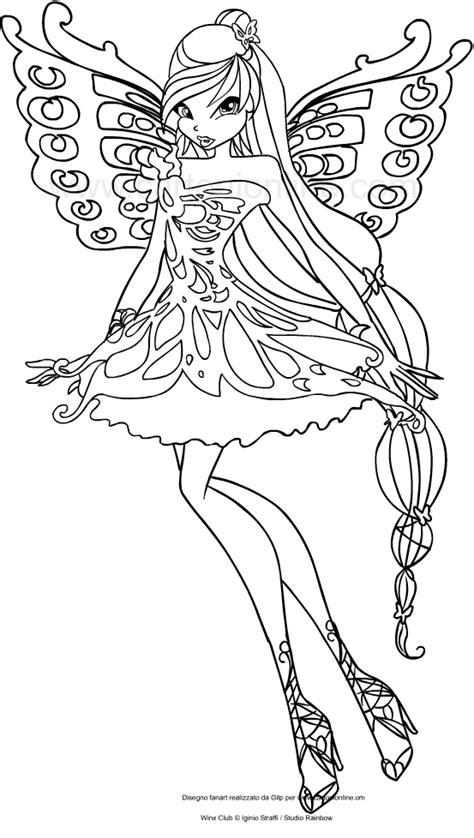 winx da colorare musa disegno di musa butterflix winx club da colorare