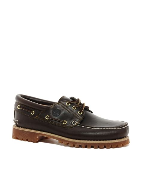 Timberland Classic Lug Boat Shoes In Black by Lyst Timberland 3eye Classic Lug Boat Shoes In Black For