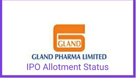 Irctc's ipo was oversubscribed by about 112 times overall. Gland Pharma IPO allotment status (Link), Check Share ...