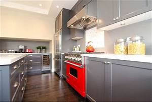 decorating with red grey ideas inspiration With red and grey kitchen designs