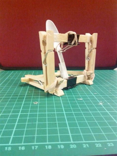 DIY clothespin catapult Camping crafts Clothes pins
