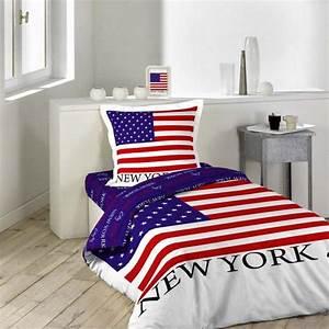 La housse de couette new york un beau style pour la for Luminaire chambre enfant avec housse couette new york 140x200