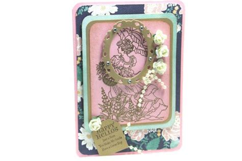 happy  card vintage handmade greeting card