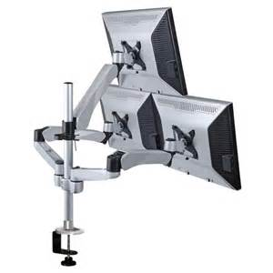 triple monitor stand quick release lcd mount desk mount