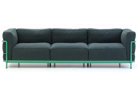 3 seat sectional sofa lc2 three seater sofa cassina milia shop