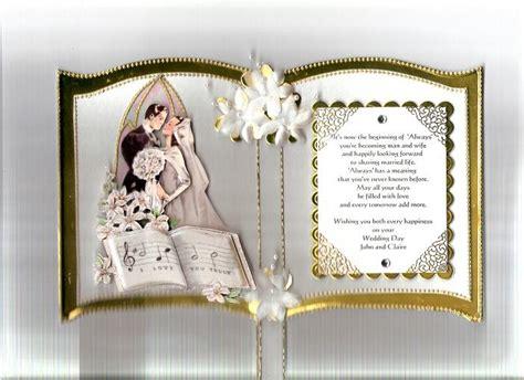 gold bookatrix wedding card  snoflakeuk