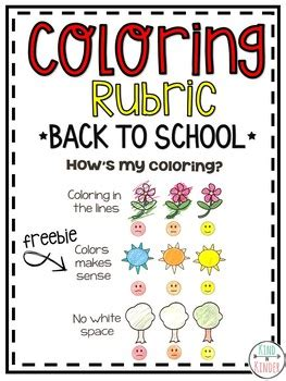 Coloring Rubric by Kindergarten Coloring Rubric By In Kinder Tpt