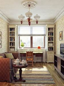 Cream red living room decor interior design ideas for Red and cream living room ideas
