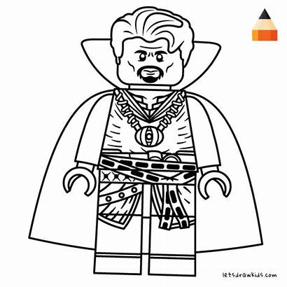 Strange Coloring Draw Lego Doctor Pages Avengers