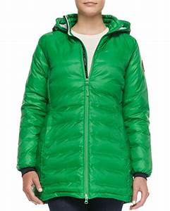 Canada Goose Camp Hooded Mid Length Puffer Coat In Green Lyst
