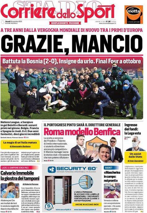 Quotidiani: la prima pagina di Qs, Stadio, Gazzetta ...