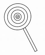 Candy Coloring Lollipop Clipart Cookie sketch template