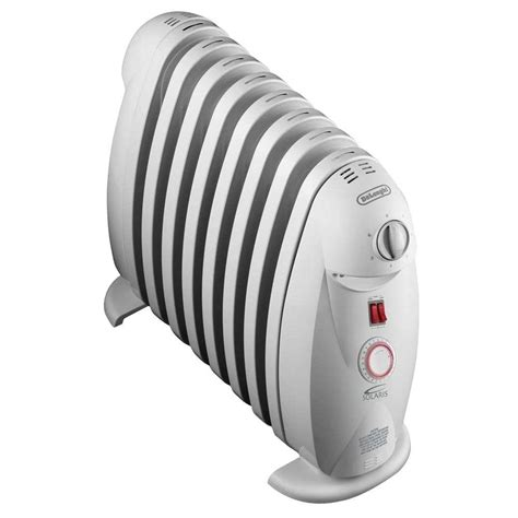 Small Heater On Timer by Delonghi 1200 Watt 8 Fin Filled Radiant Portable