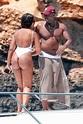 Idris Elba puts on very sexy display with bikini-clad ...