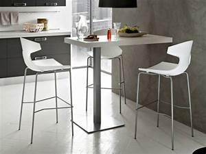 Table Haute Et Chaises De Bar Cuisine En Image