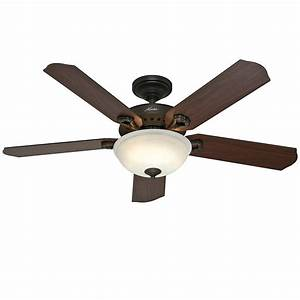 Hunter quot new bronze ceiling fan with light remote