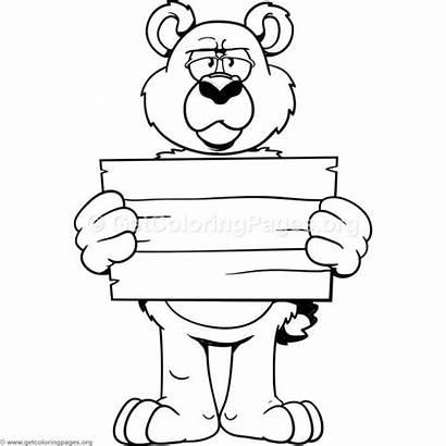 Bear Cartoon Coloring Getcoloringpages