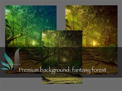 premium premade background fantasy forest