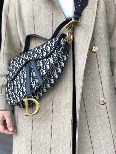 mini dior saddle bag oblique white jacquard leather auth dior saddle bag dior brown