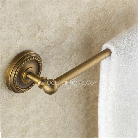 discount antique brass single bathroom towel bars