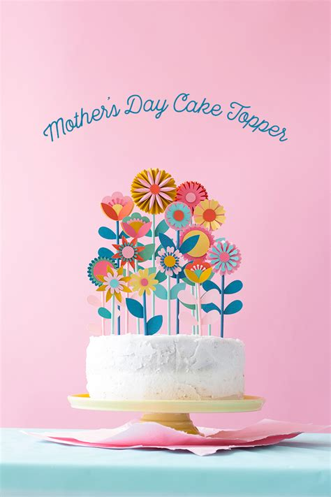 mothers day floral cake topper  house  lars built