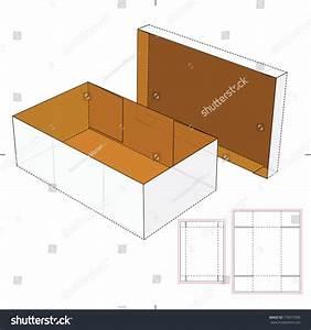 Shoes Cardboard Box Diecut Pattern Stock Vector 179577509
