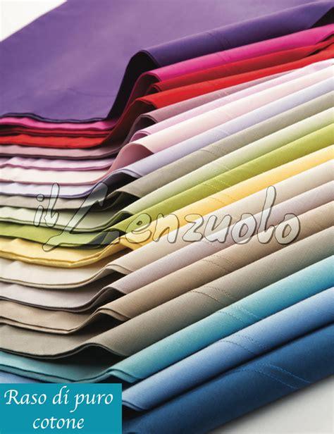 lenzuola matrimoniali  raso  puro cotone tinta unita