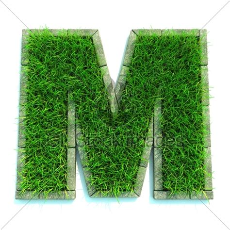 and numbers letter a made of grass stock grass letter m 183 gl stock images