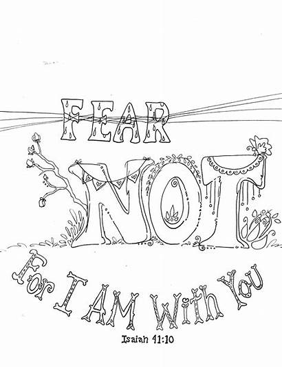Fear Coloring Bible Pages Verse Printable Scripture