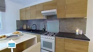 Placage Bois Pour Porte : r novation de meuble de cuisine en placage bois sur m6 ~ Dailycaller-alerts.com Idées de Décoration