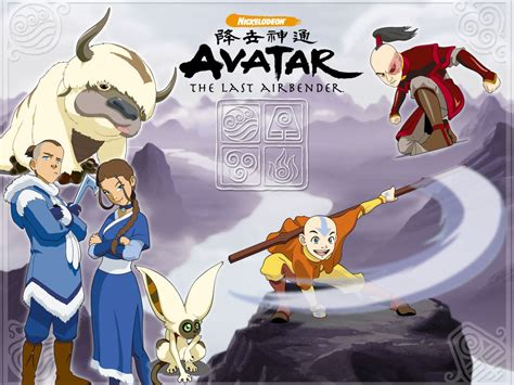 avatar  legend  aang naruto wallpaper