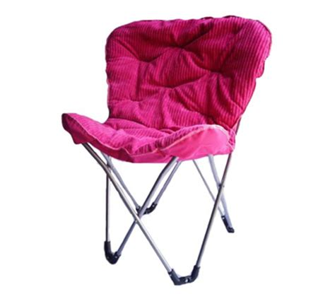 comfort padded butterfly chair foldable pink college