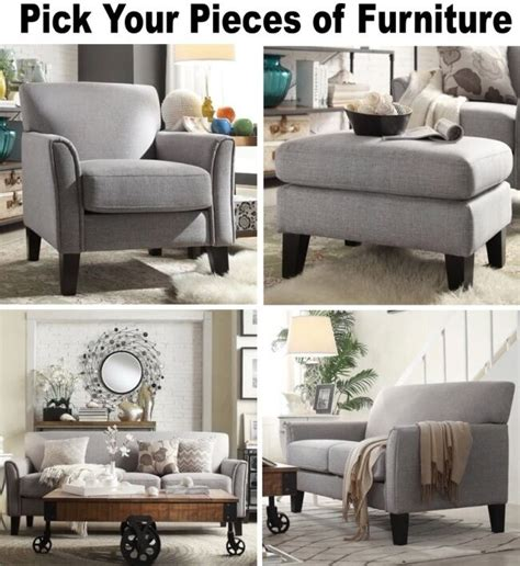 Accent Loveseat by Gray Linen Furniture Set Sofa Loveseat Accent Chair