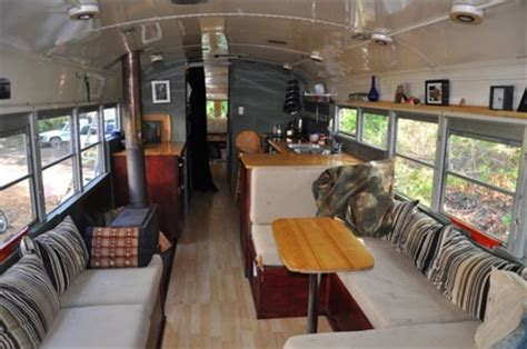 school bus transforms   tiny home   rvsharecom
