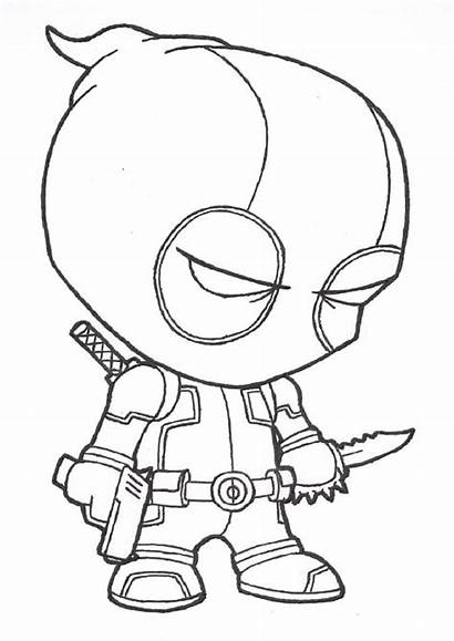 Coloring Pages Deadpool Cartoon