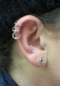 triple cartilage piercing pain aftercare jewelry body