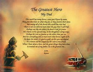 """Father Dad """"Greatest Hero"""" Personalized Fireman"""