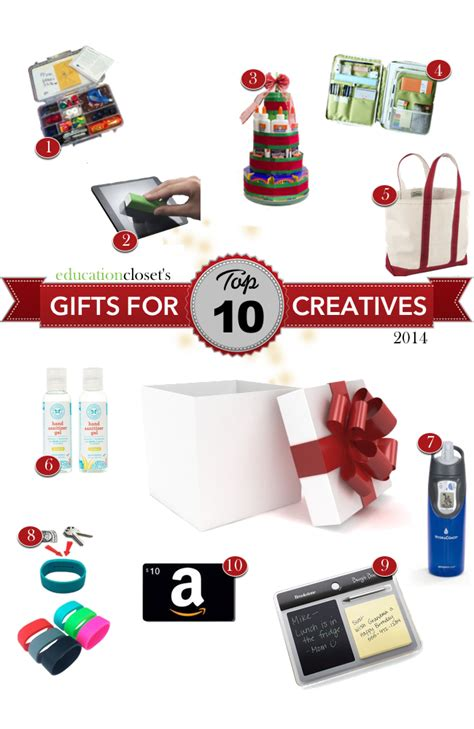 top 10 holiday gifts for the creative type educationcloset