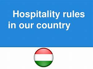 Hospitality rules in hungary