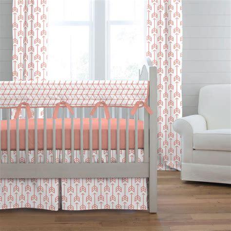 arrow crib bedding light coral arrow crib bedding carousel designs