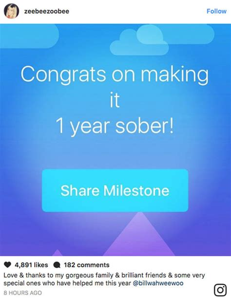 Zoe Ball celebrates one year sober with moving post to ...