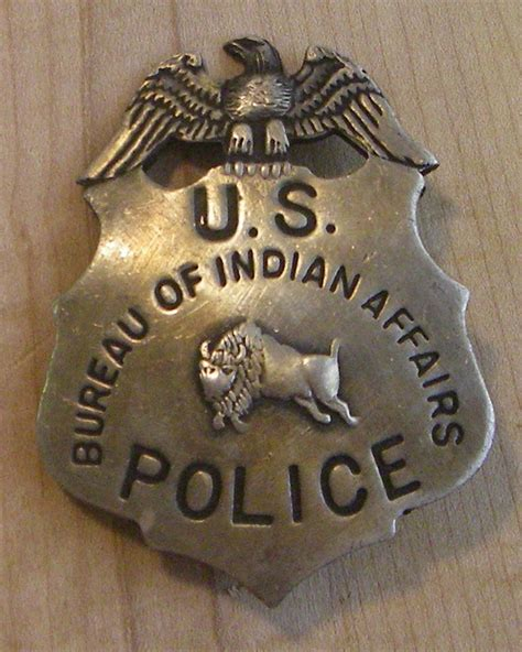 us bureau of indian affairs us bureau of indian affairs badge bw 23