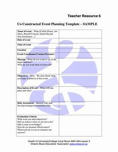 event planning template in word and pdf formats With concert planning template