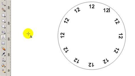 gambar membuat garis menit jam sejajar jarak sama