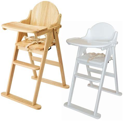 chaise haute pliable east coast chaise haute pliable en bois solide accessoire