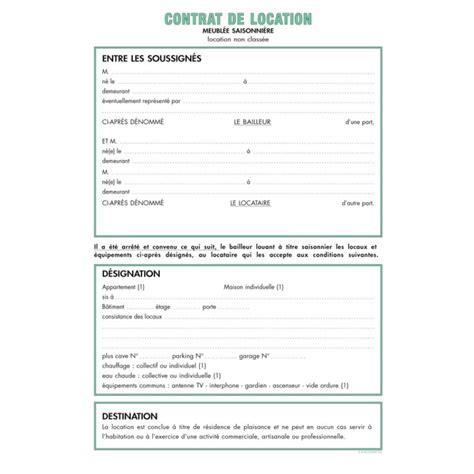 Contrat Location Meublée by Modele Bail Meuble Saisonnier Gratuit Document Online
