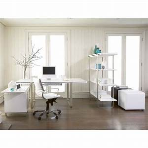 vintage home office interior design with l shape white With interior design for home office